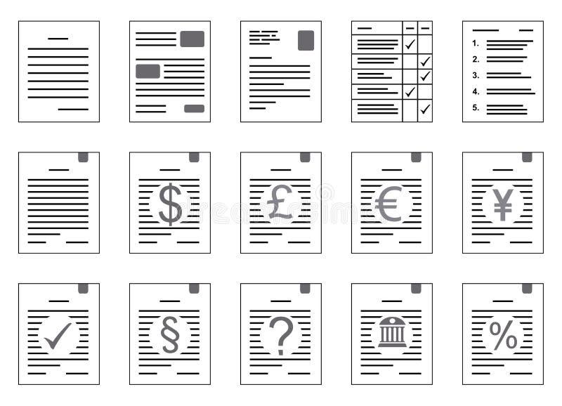 Contracten met muntrisico en andere klemarts. vector illustratie