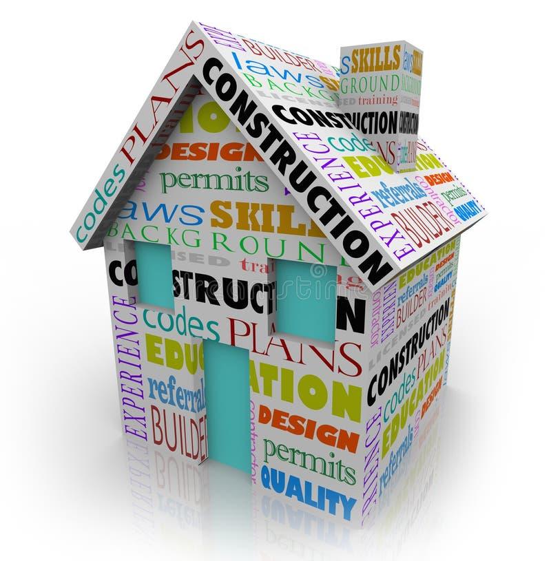 Contractor Home Building för huskonstruktionsbyggmästare nytt projekt royaltyfri illustrationer