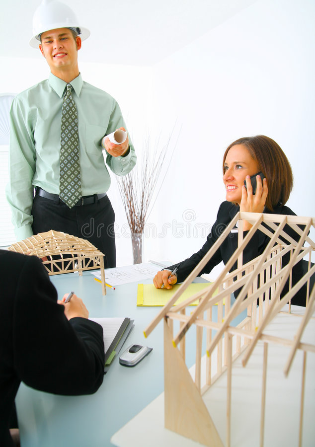 Download Contractor In Meeting stock photo. Image of beauty, pretty - 6529020