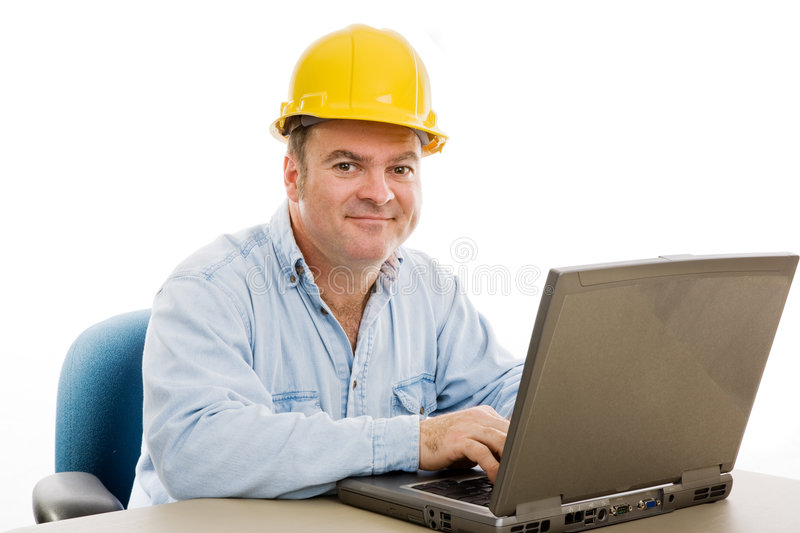 Contractor in Office royalty free stock photo