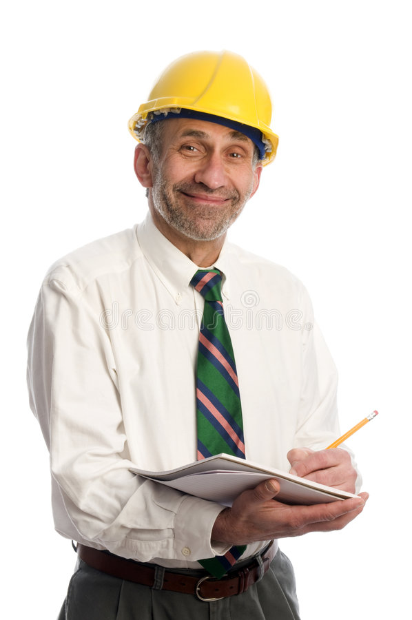 Download Contractor Writing Estimate Project Stock Photo - Image: 8687274