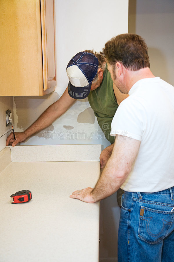 Download Contractors And Kitchen Counter Stock Image - Image: 7429127