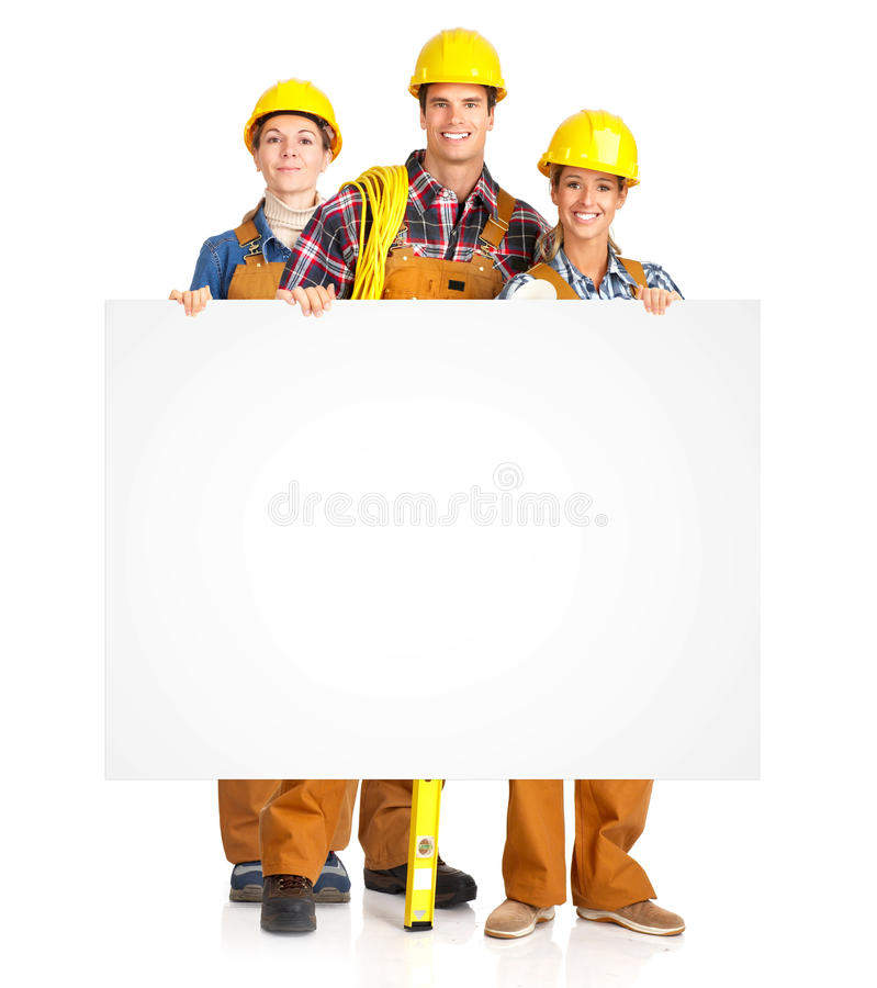 Contractors Workers People Stock Images