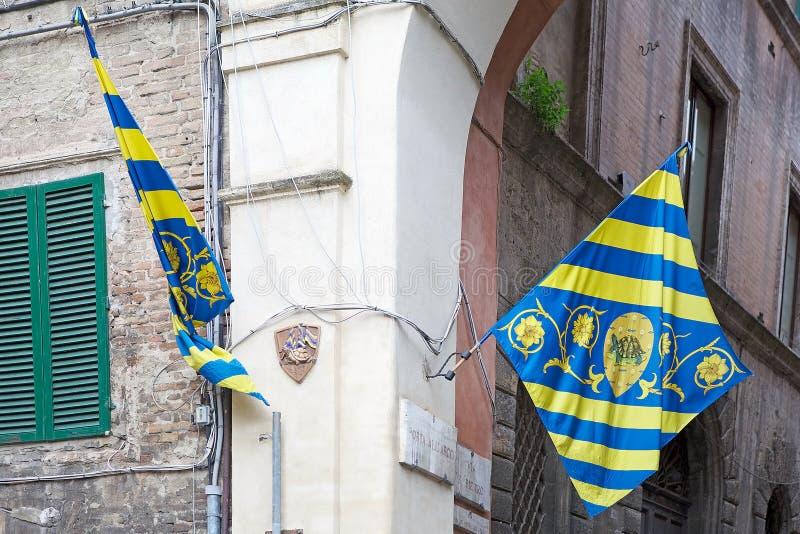 Contrade de Siena, Toscânia, Itália foto de stock