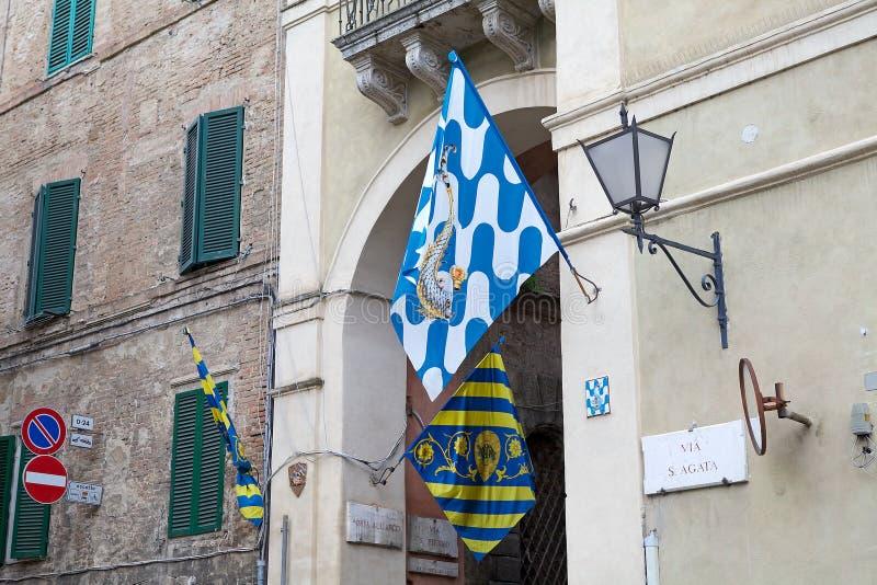 Contrade di Siena, Toscana, Italia immagini stock