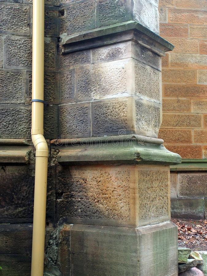 Contrafuerte de la piedra arenisca en la iglesia vieja, Sydney, Australia imagen de archivo libre de regalías