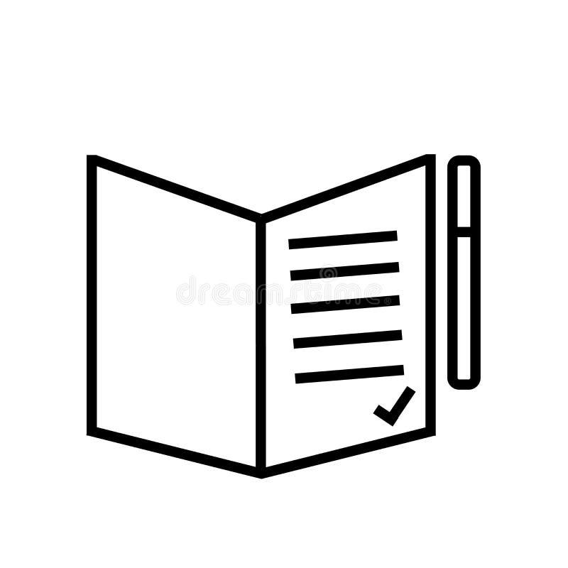 Contragga il vettore dell'icona isolato su fondo bianco, segno del contratto illustrazione di stock