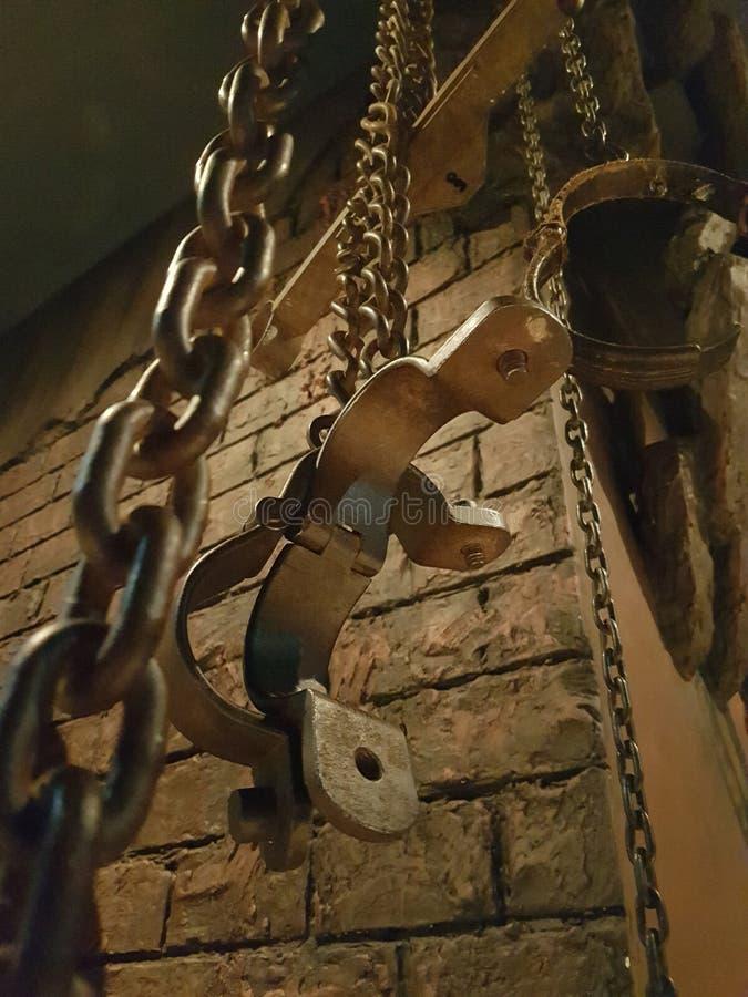 Contraintes d'emprisonnement photos stock