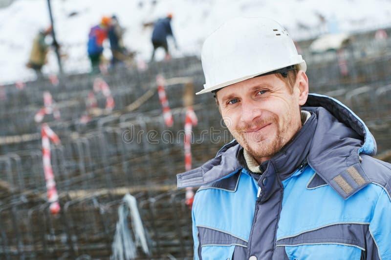Contramestre do terreno de construção da construção fotografia de stock royalty free