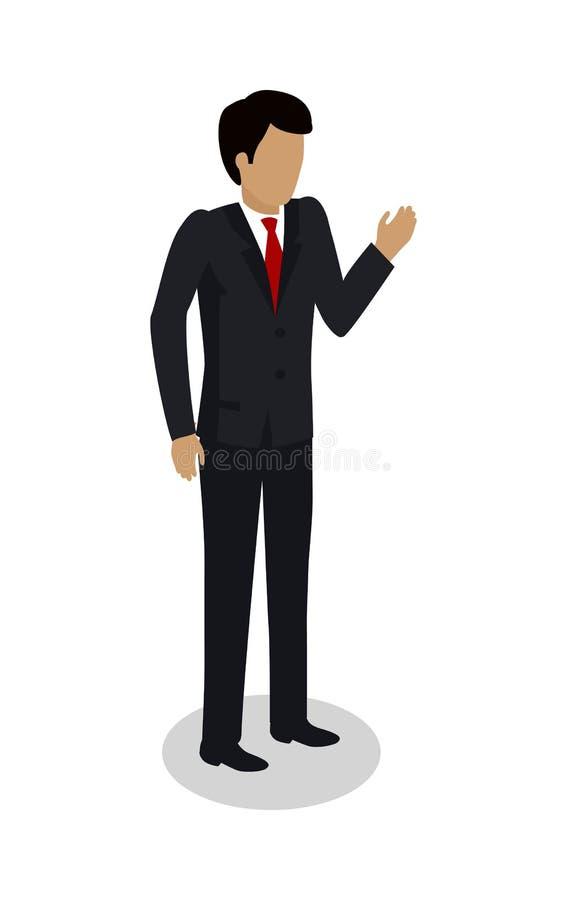 Contramestre Manager do trabalhador de doca no terno caro ilustração royalty free
