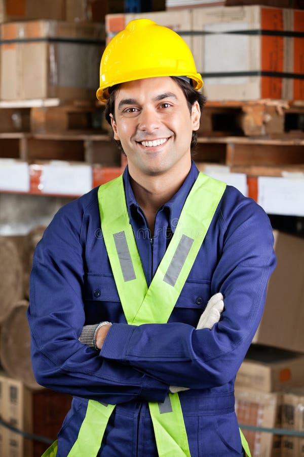 Contramestre seguro At Warehouse foto de stock