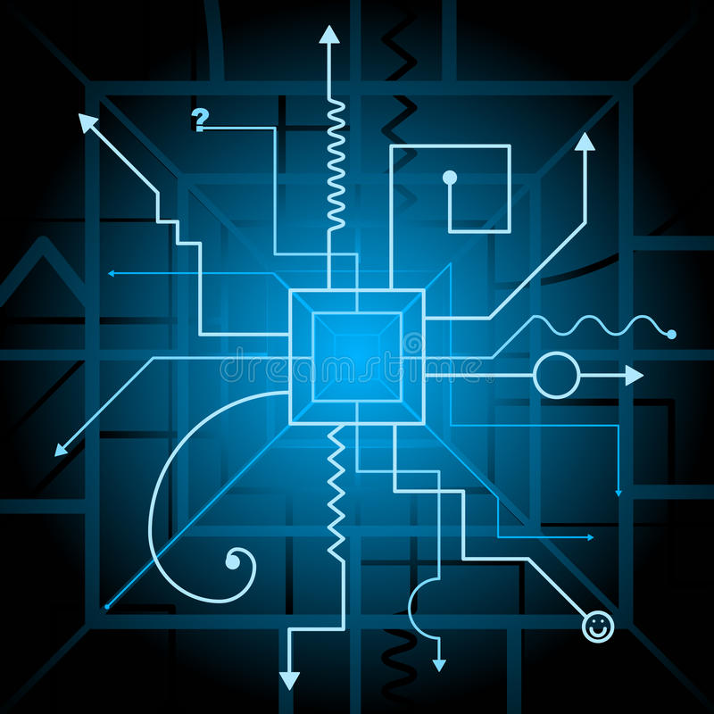 Free Contraption Schematic Royalty Free Stock Photo - 15035115