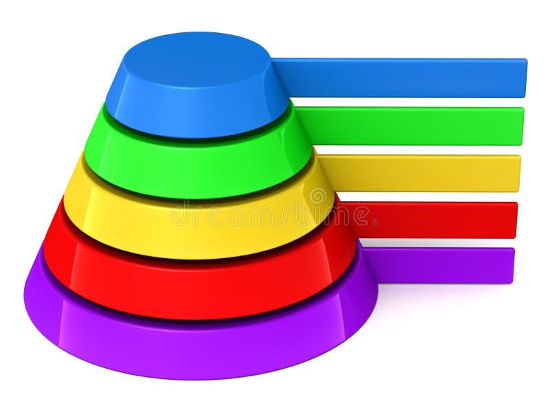 Contrassegni in bianco della piramide illustrazione di stock