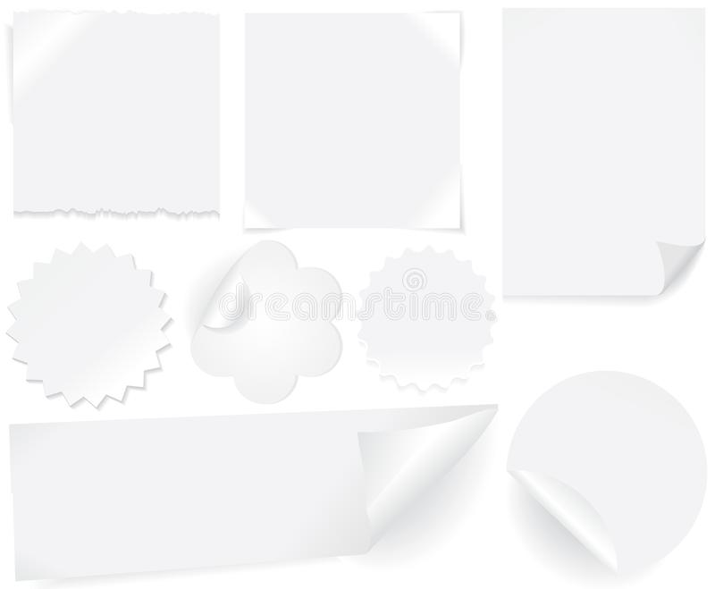 Contrassegni del Libro Bianco immagini stock