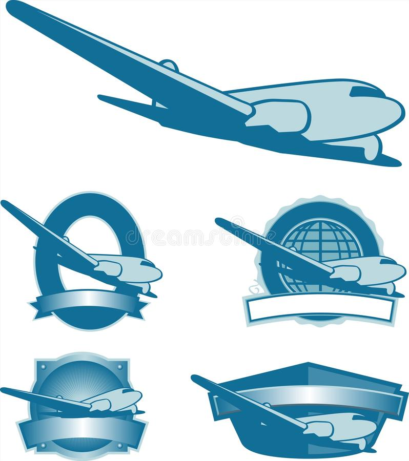 Contrassegni dell'aereo dell'annata illustrazione di stock