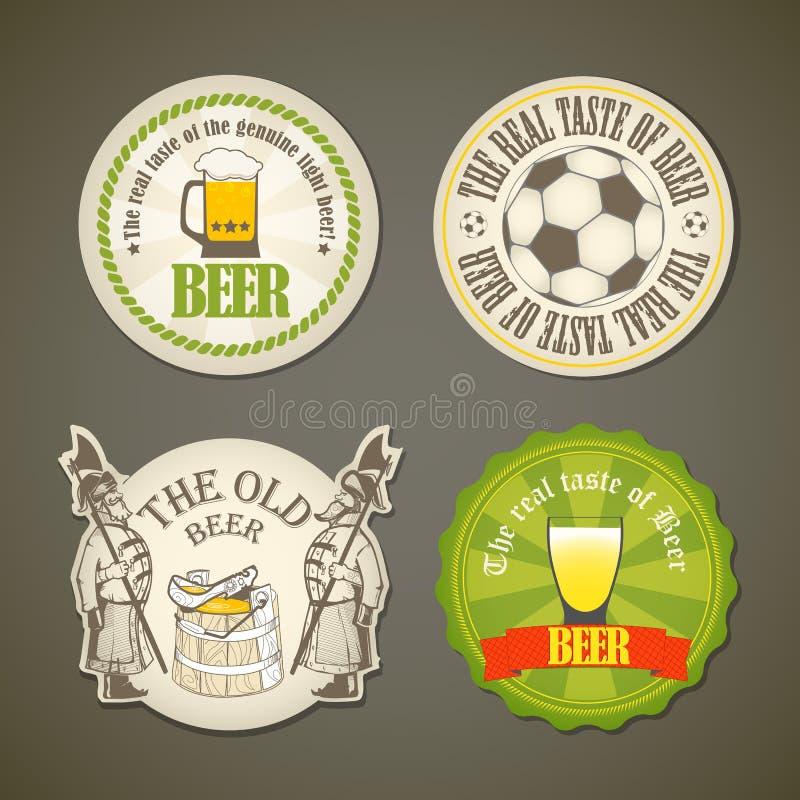 Contrassegni della birra dell'annata royalty illustrazione gratis