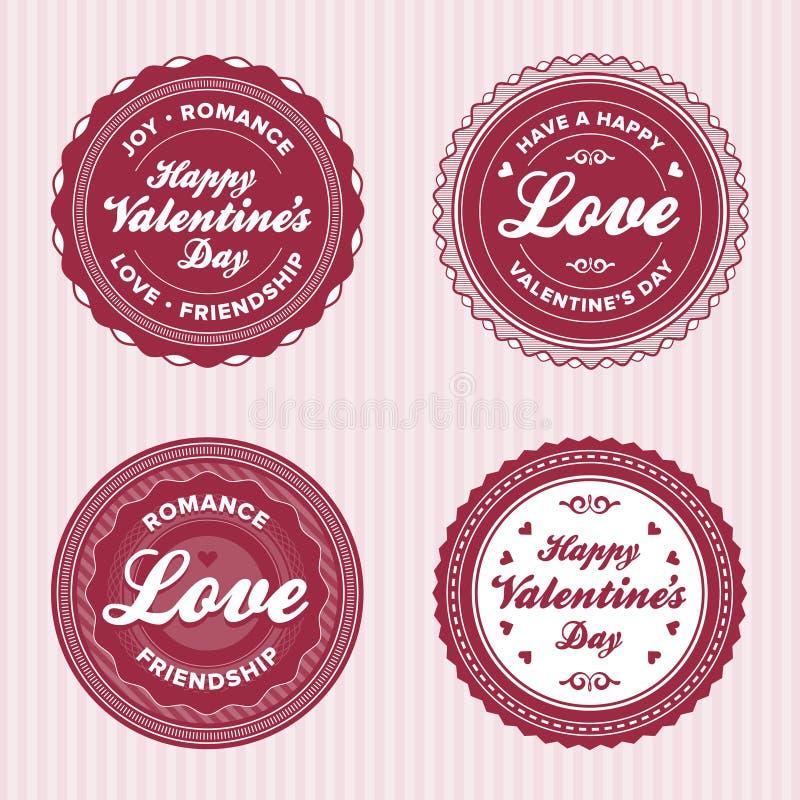 Contrassegni di amore del biglietto di S. Valentino royalty illustrazione gratis