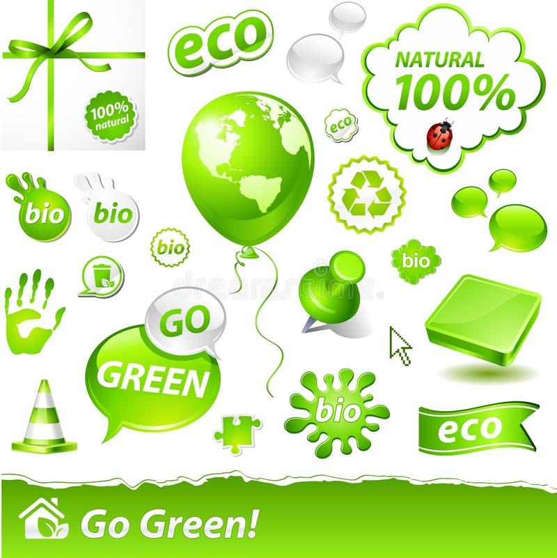Contrassegni di Eco illustrazione di stock