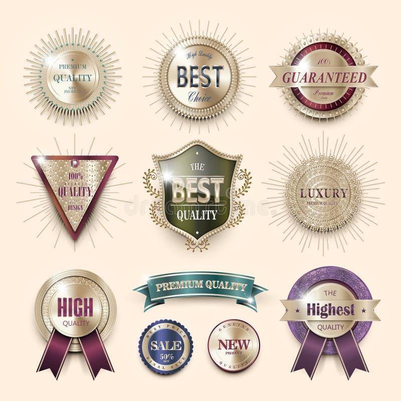 Contrassegni di qualità di premio illustrazione di stock