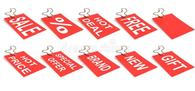 Contrassegni di vendita fotografie stock libere da diritti