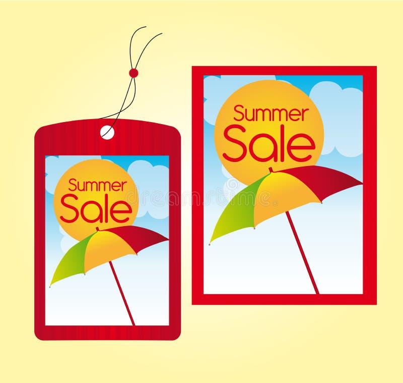 Contrassegni di vendita di estate royalty illustrazione gratis