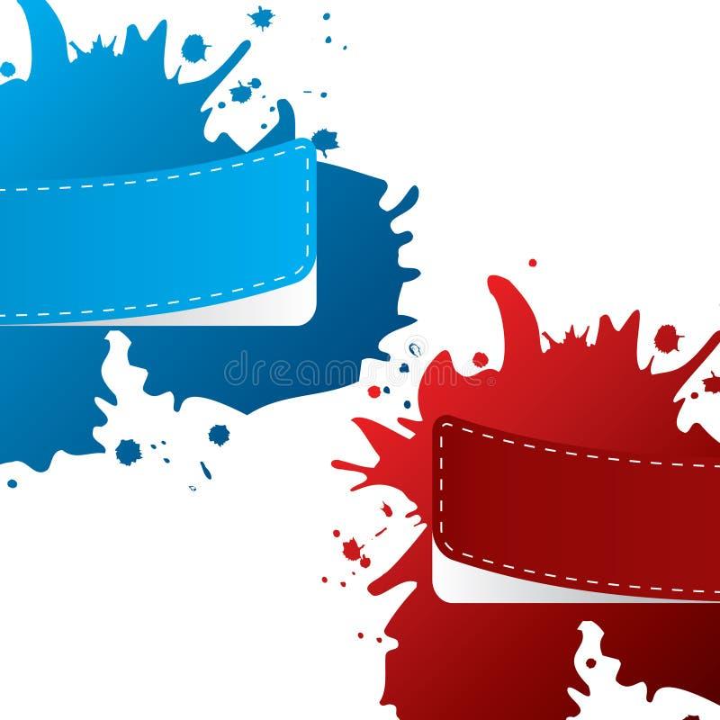 Contrassegni dipinti di colore con lo splatter della pittura royalty illustrazione gratis