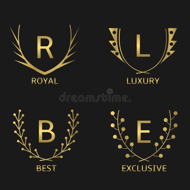Contrassegni dorati royalty illustrazione gratis