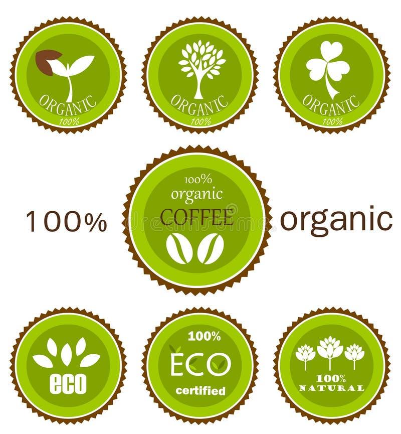 Contrassegni organici di vettore di Eco illustrazione vettoriale