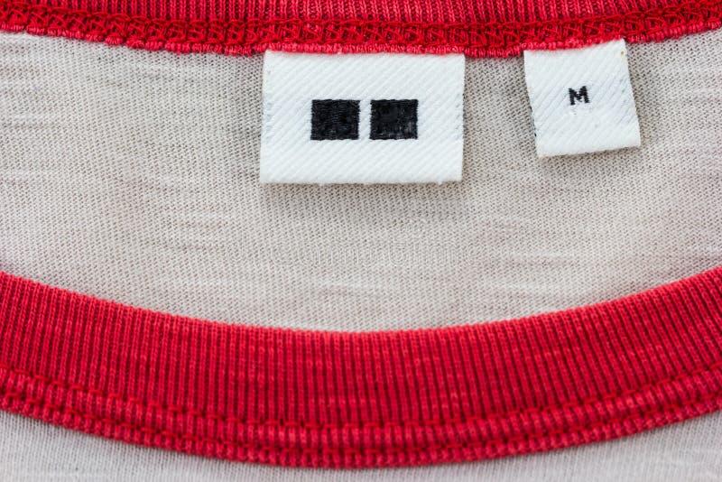Contrassegno d'abbigliamento fotografia stock