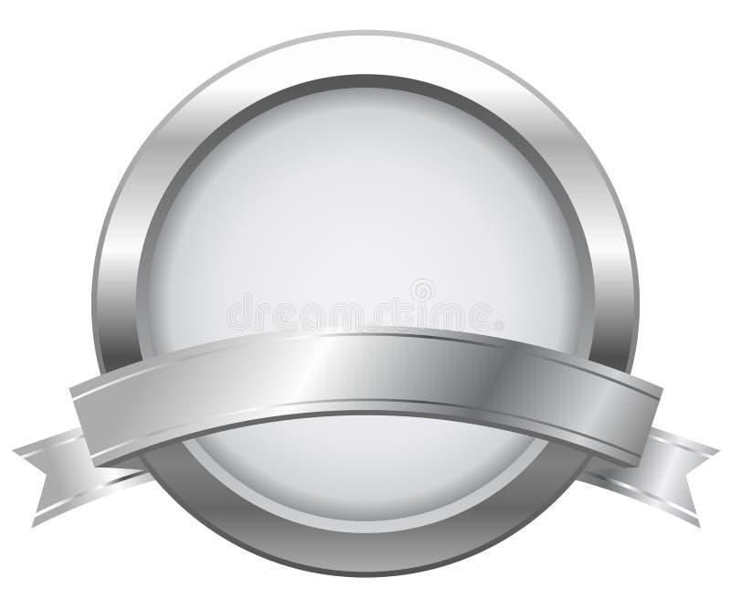 Contrassegno d'argento con il nastro royalty illustrazione gratis