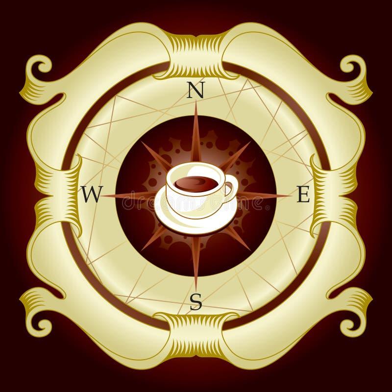 Contrassegno del caffè royalty illustrazione gratis