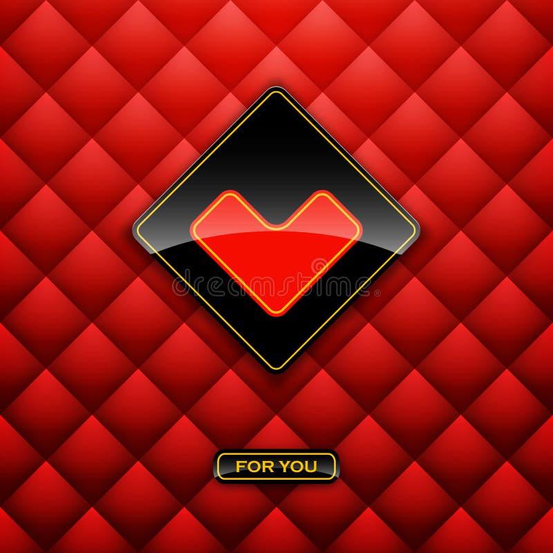 Contrassegno del cuore dalla scheda di carta di giorno di biglietti di S royalty illustrazione gratis