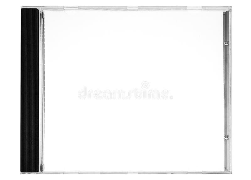 Contrassegno Del Disco - Coperchio In Bianco Del Disco Con Il Percorso (vista Frontale) Fotografia Stock