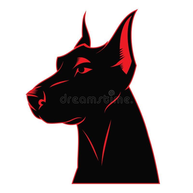 Contrassegno del doberman del cane royalty illustrazione gratis