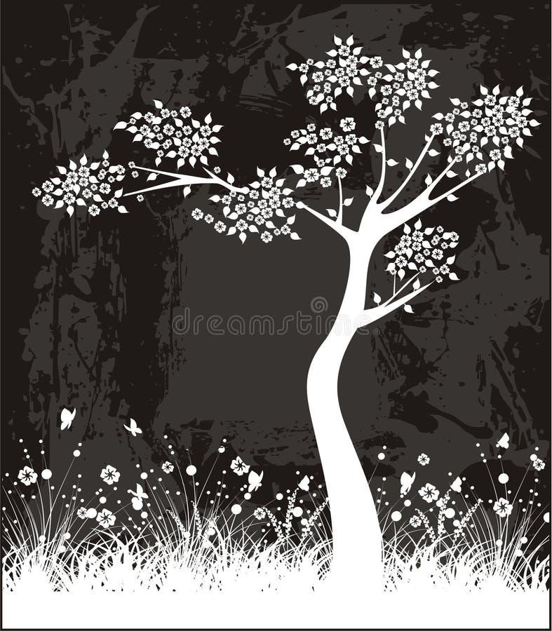 Contrassegno dell'albero illustrazione vettoriale