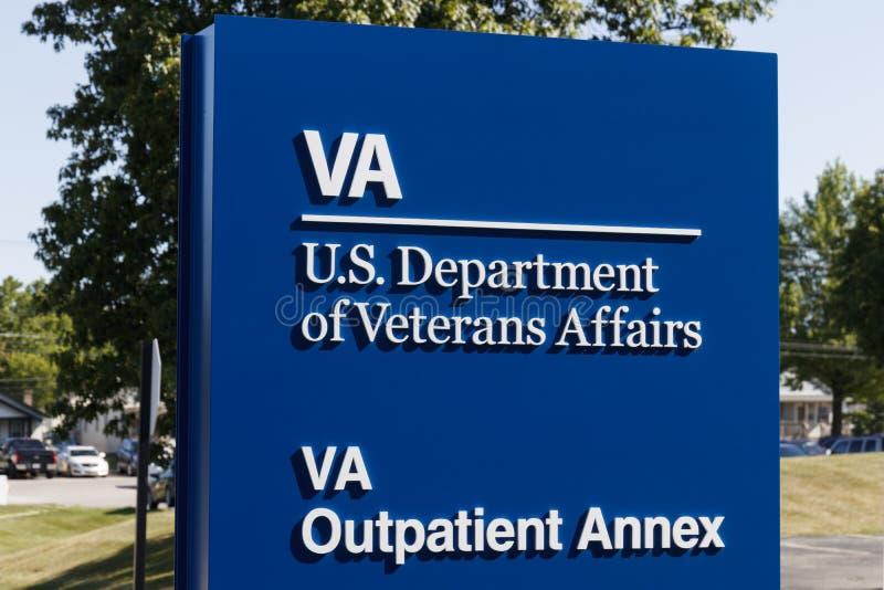 Contrassegno dell'annesso del paziente esterno di affari dei veterani Il VA fornisce i servizi di sanità ai veterani militari X fotografia stock libera da diritti