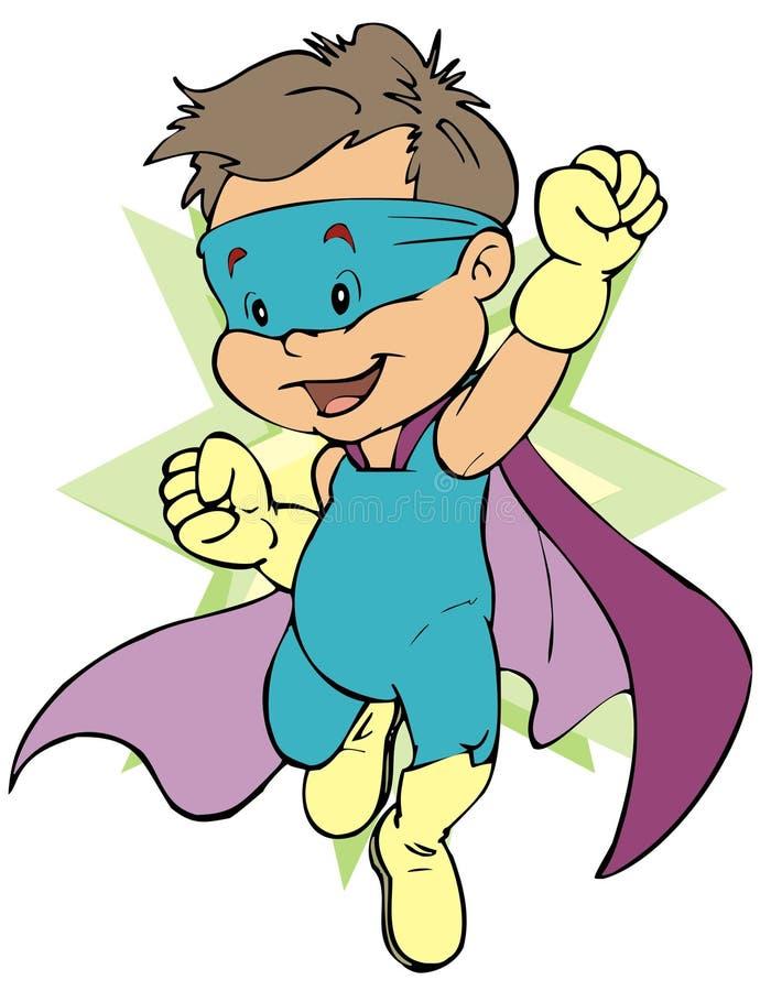 Contrassegno dell'eroe del bambino illustrazione di stock