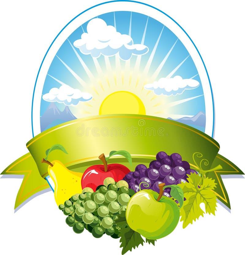 Contrassegno della frutta royalty illustrazione gratis