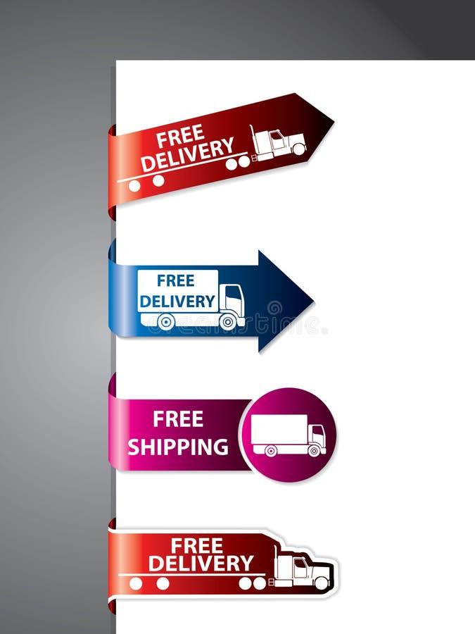 Contrassegno di trasporto/autoadesivi liberi illustrazione vettoriale