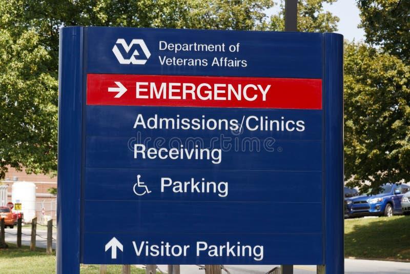 Contrassegno e logo di affari dei veterani Il VA fornisce i servizi di sanità ai veterani militari VIII fotografie stock libere da diritti