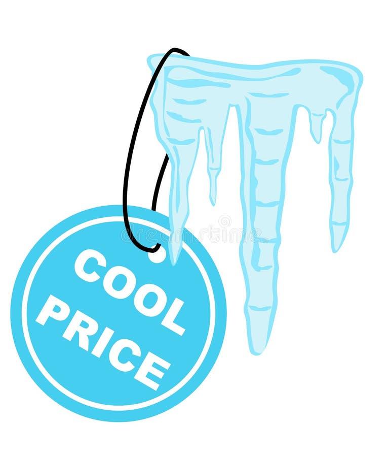 Contrassegno freddo di prezzi illustrazione vettoriale
