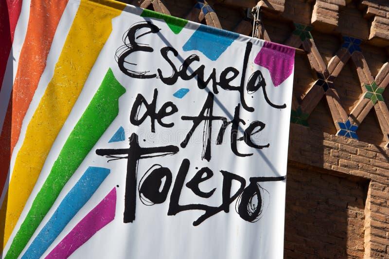 Contrassegno Toledo Spain della via fotografie stock libere da diritti
