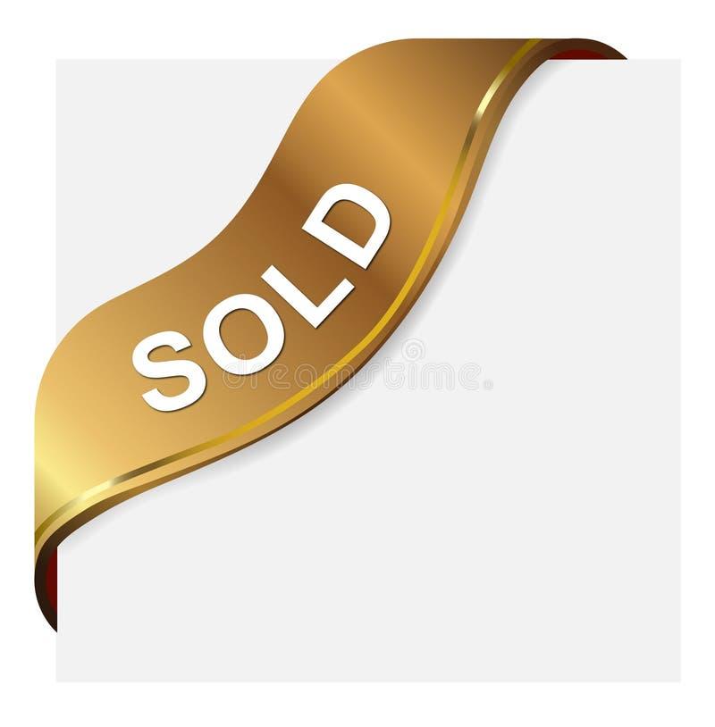 Contrassegno venduto illustrazione di stock