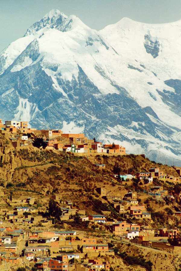 De stad van La Paz royalty-vrije stock foto