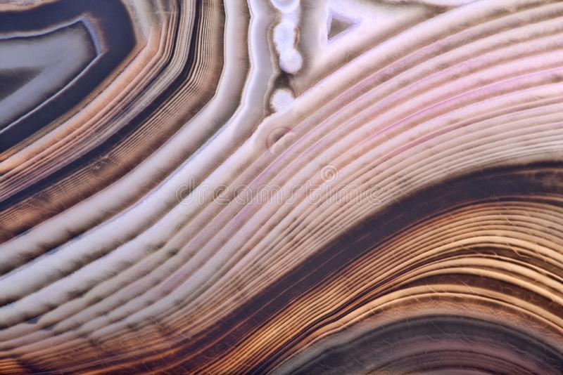 Contrast brown light and dark lines in agate. Background with contrast agate structure stock photos
