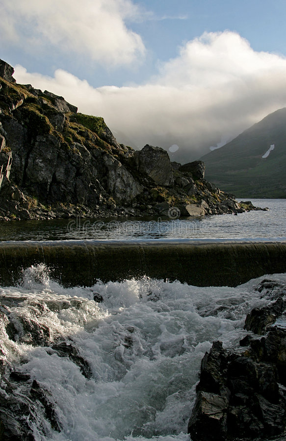 Download Contrast Between Calm And Wild Water Stock Photo - Image: 1288548