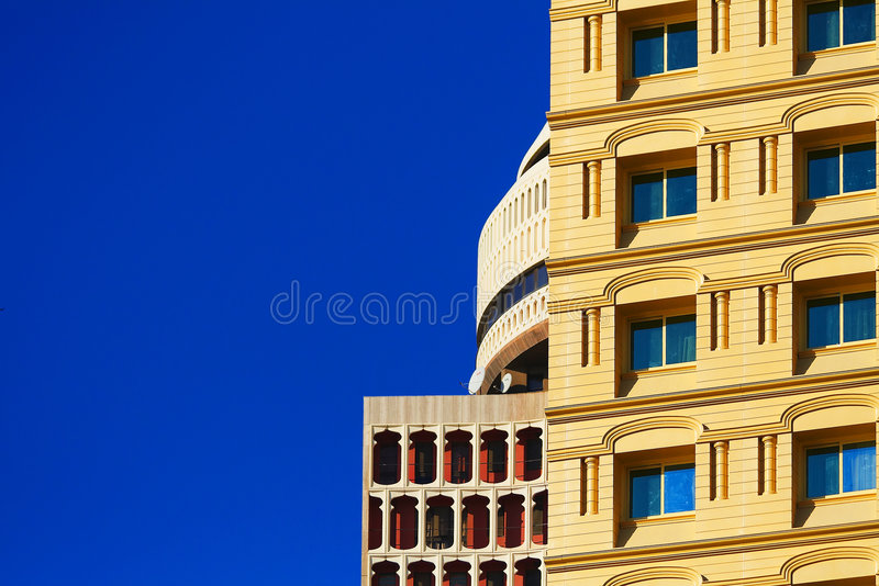 Contrast in Dubai royalty free stock image