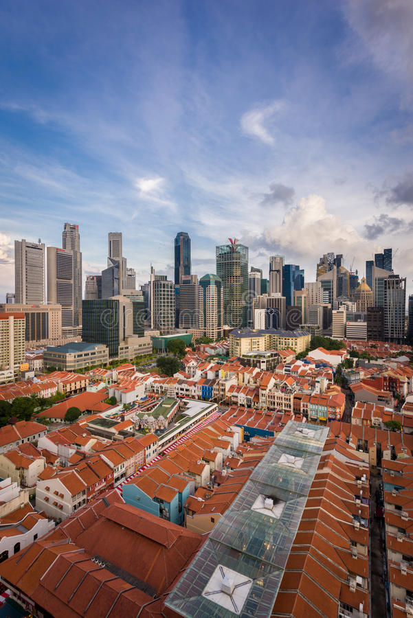 Free Contrast Of Old And New Architecture - Singapore Stock Photos - 66594073