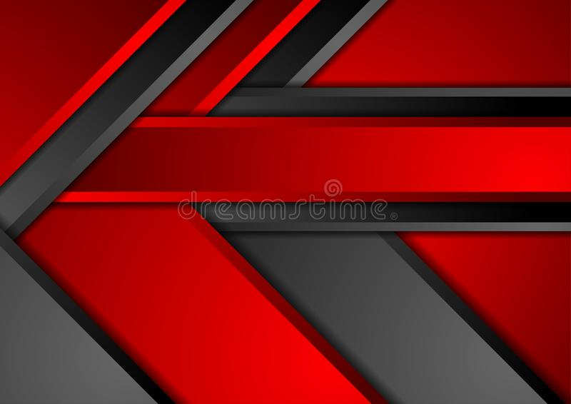 Contrast red black abstract corporate material background royalty free illustration