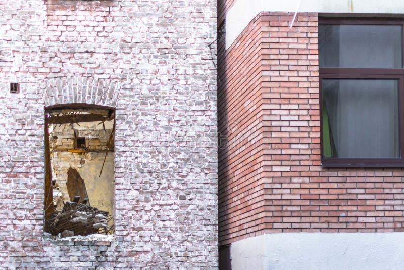 Contrast van oude en nieuwe stad royalty-vrije stock foto's